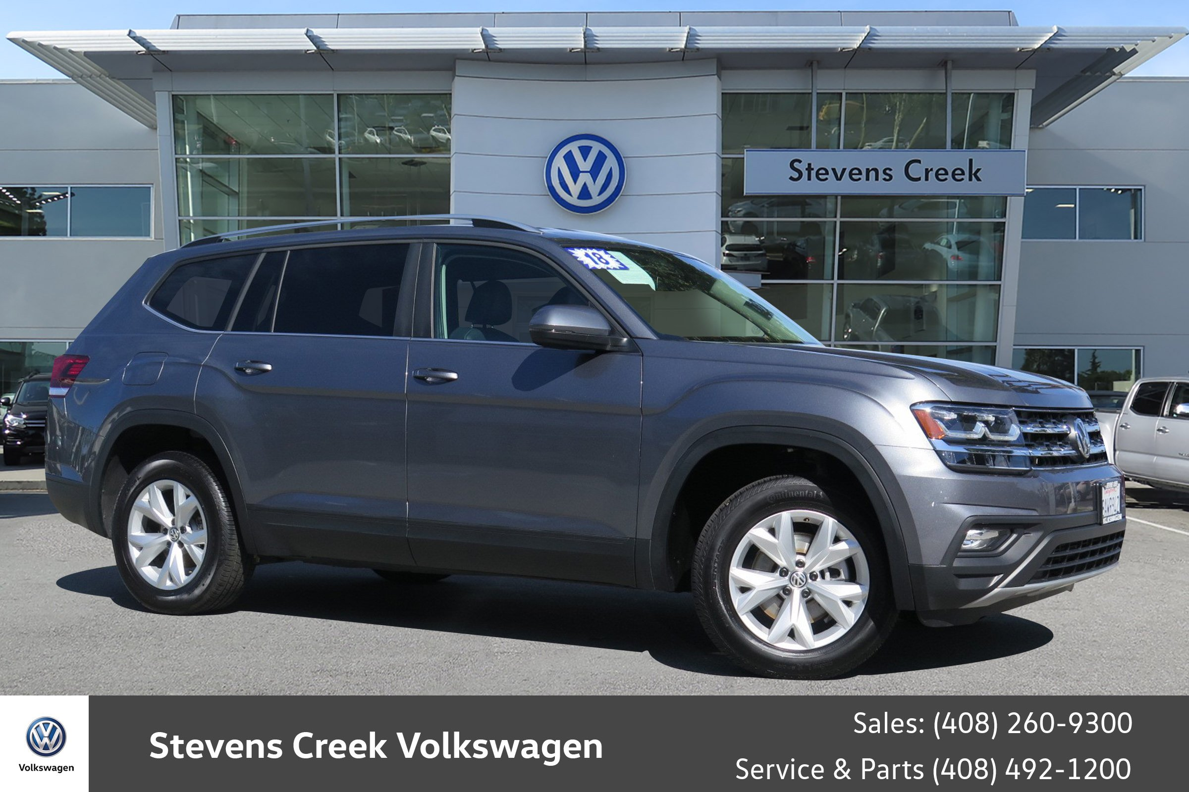 Pre Owned 2018 Volkswagen Atlas 3 6L V6 SE Sport Utility in San Jose