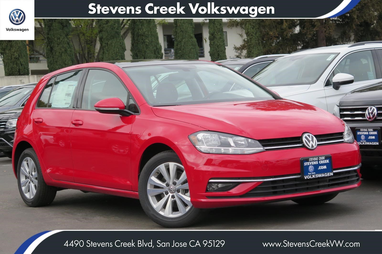 New 2018 Volkswagen Golf SE FWD Hatchback VIN# JM251405 MSRP $25,925