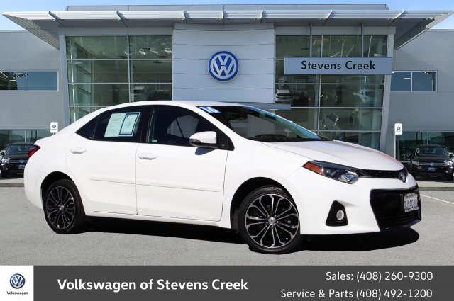 Toyota Stevens Creek >> Pre Owned 2016 Toyota Corolla S Plus 4dr Car In San Jose Vx17744